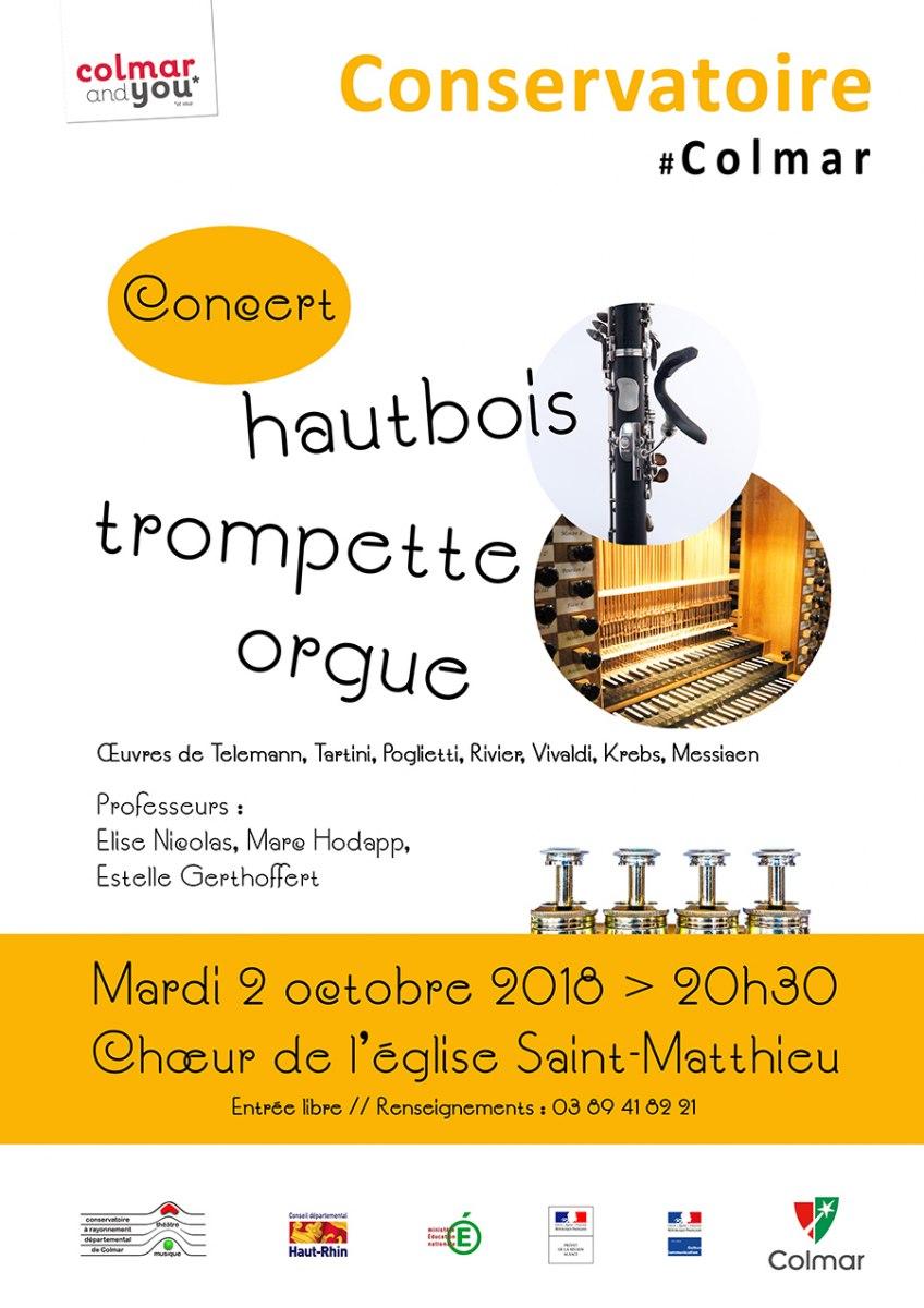 Concert hautbois, trompette et orgue