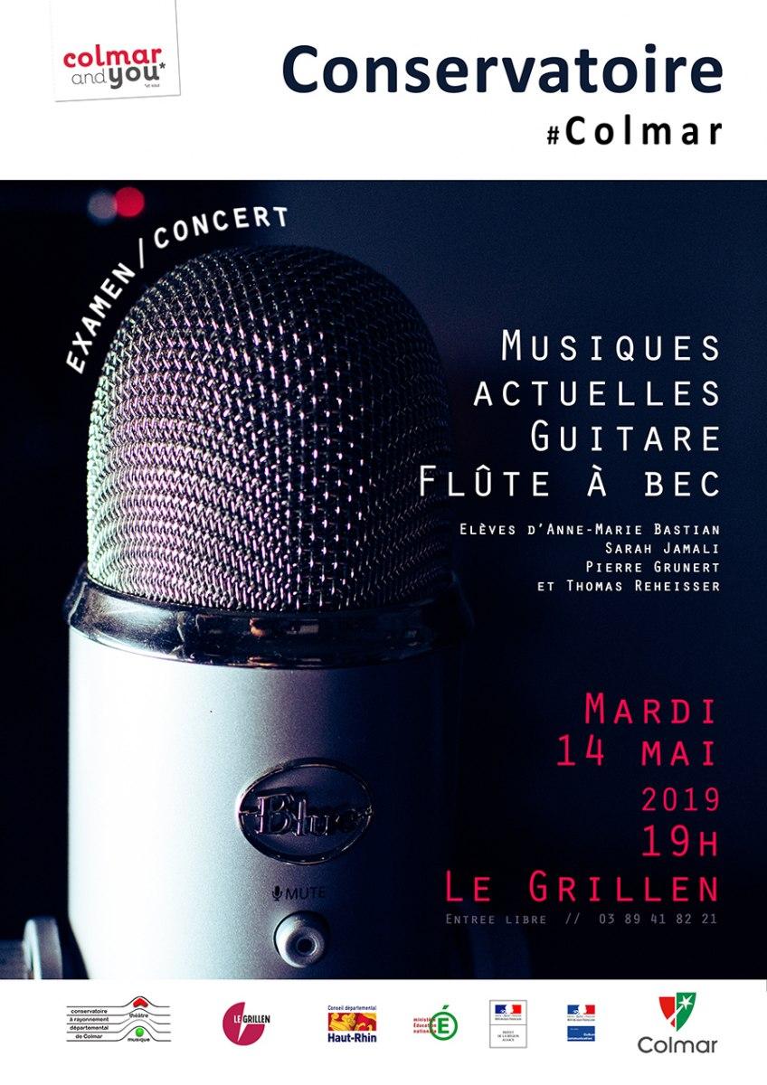 Examen/concert musiques actuelles, guitare et flûte à bec