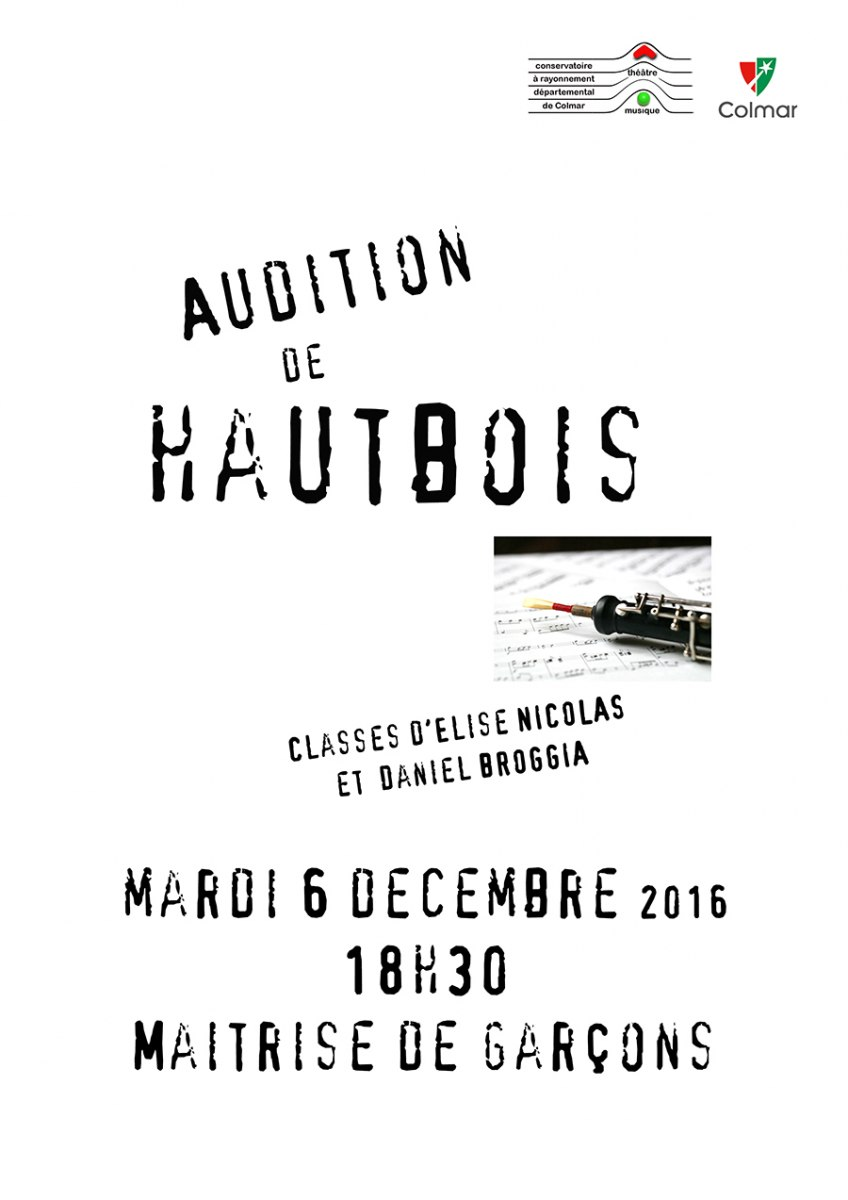 Audition de hautbois