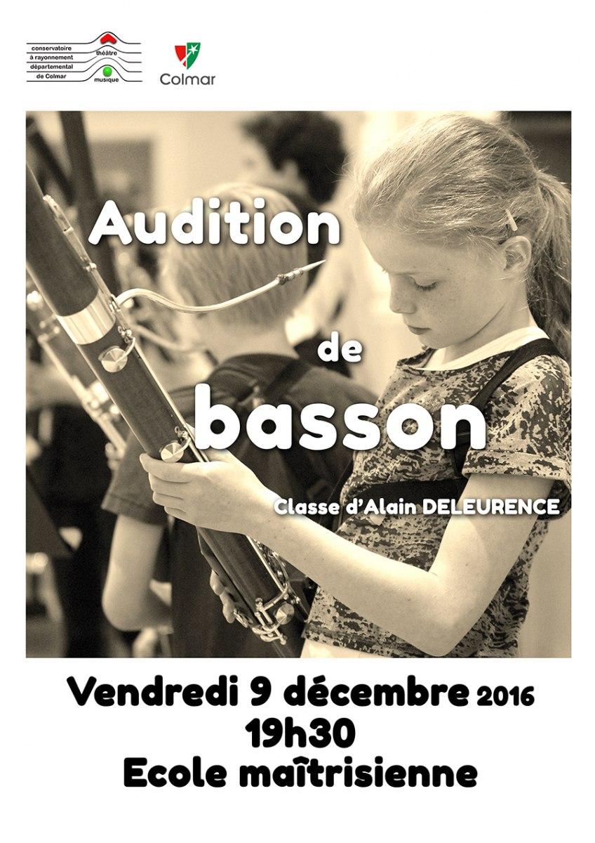 Audition de basson