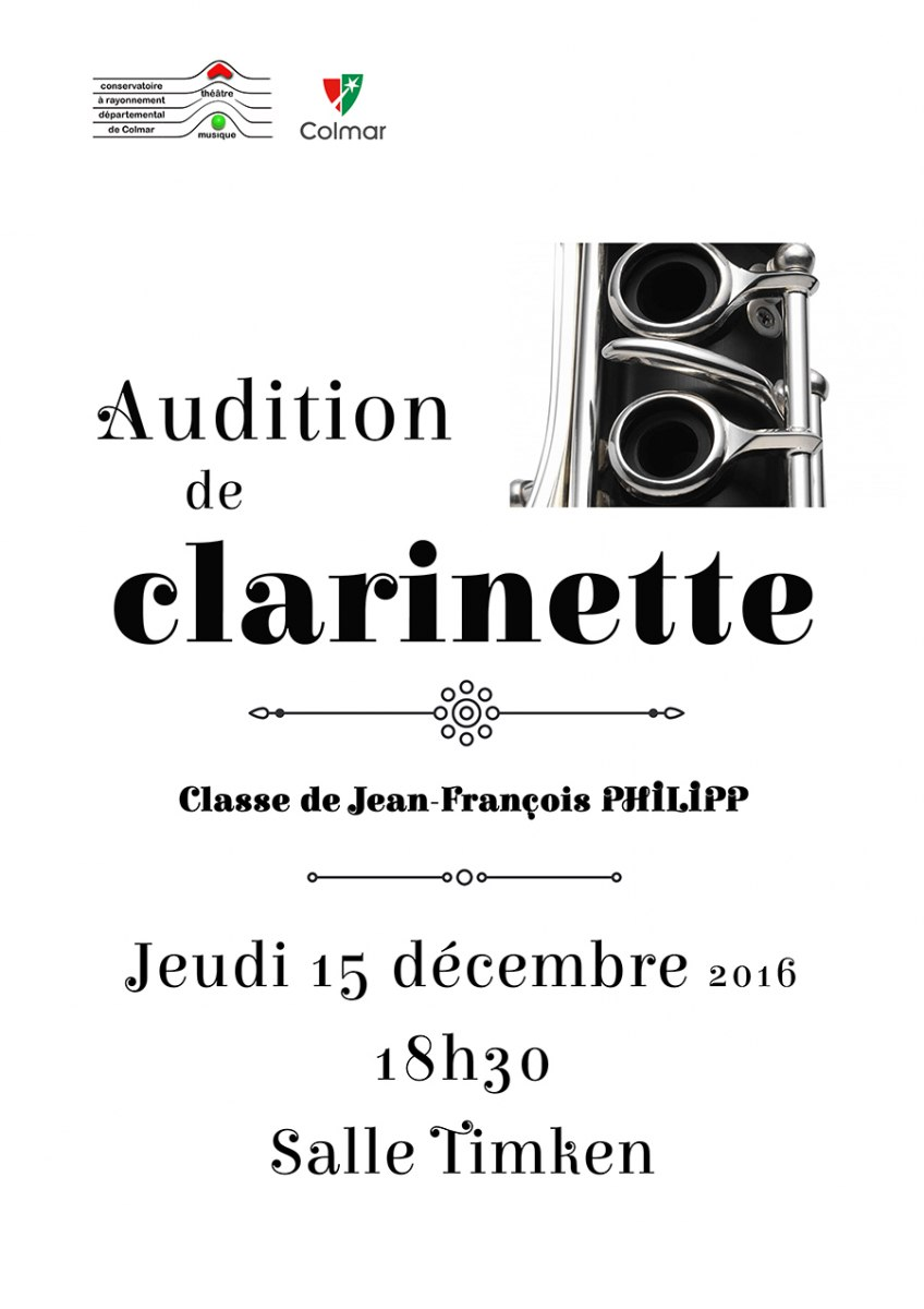 Audition de clarinette